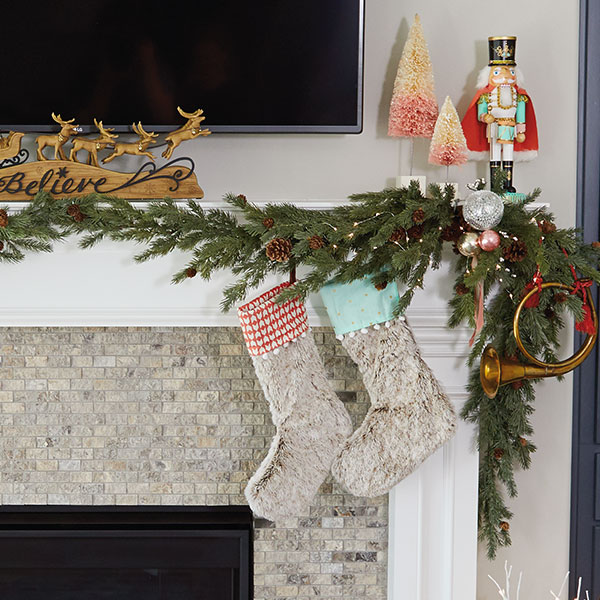 How To Decorate A Mantel For Christmas Hallmark Ideas