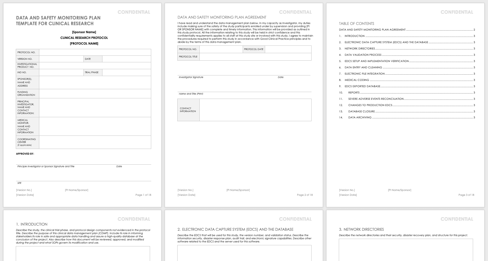 Monitoring Report Template Clinical Trials