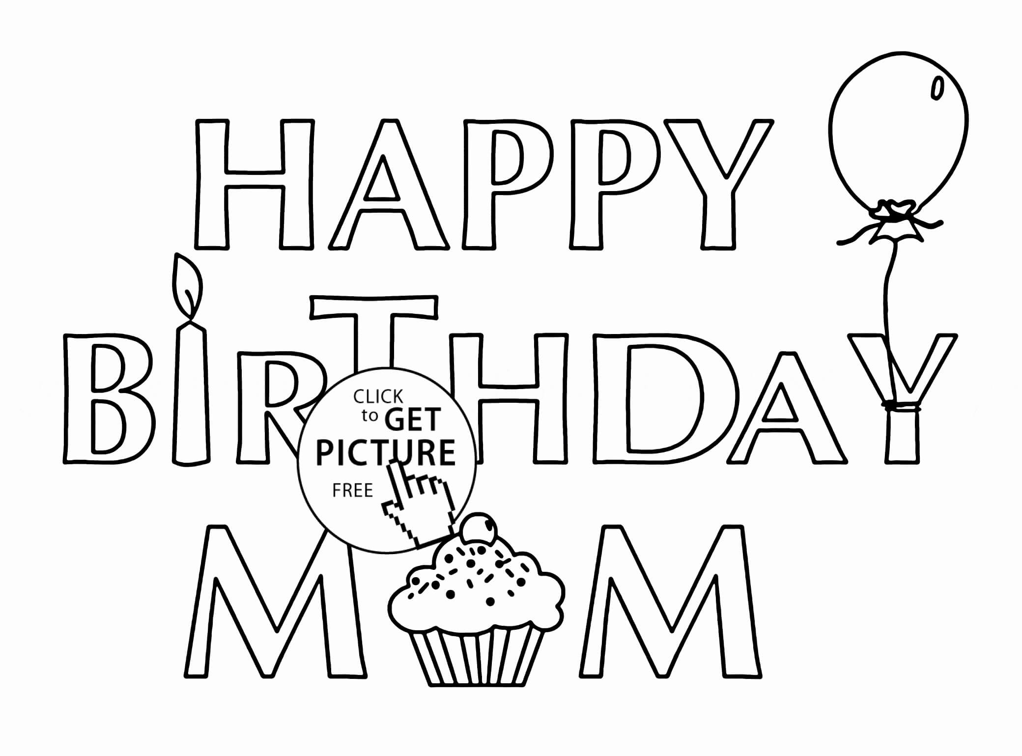 Mom Birthday Card Template
