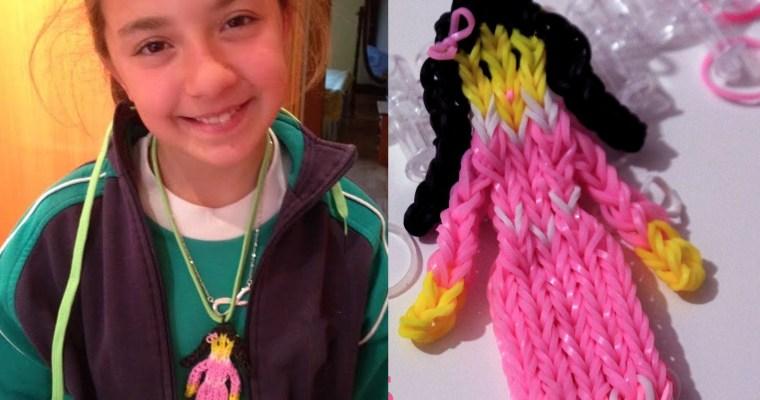 Colgante de gomitas de princesa o muñeca