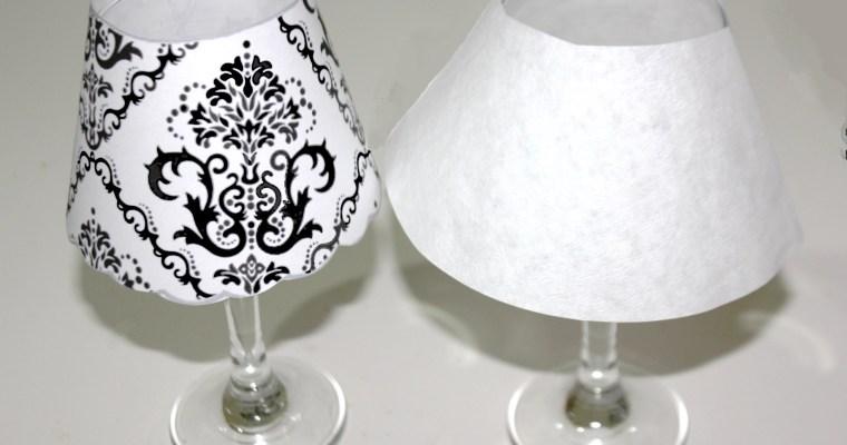 Lámparas hechas con copas y velas