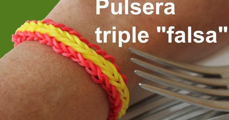 """Pulsera de gomitas triple """"falsa"""""""