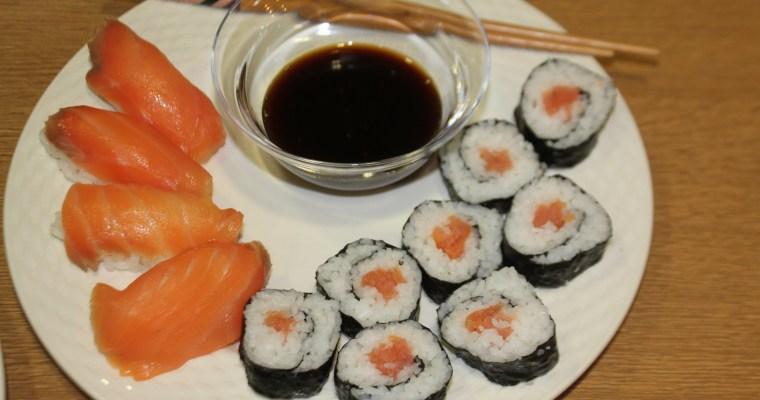 Receta de Sushi fácil de salmón ahumado
