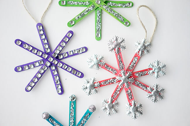 29 DIY Popsicle Stick Snowflakes Patterns Amp Instructions