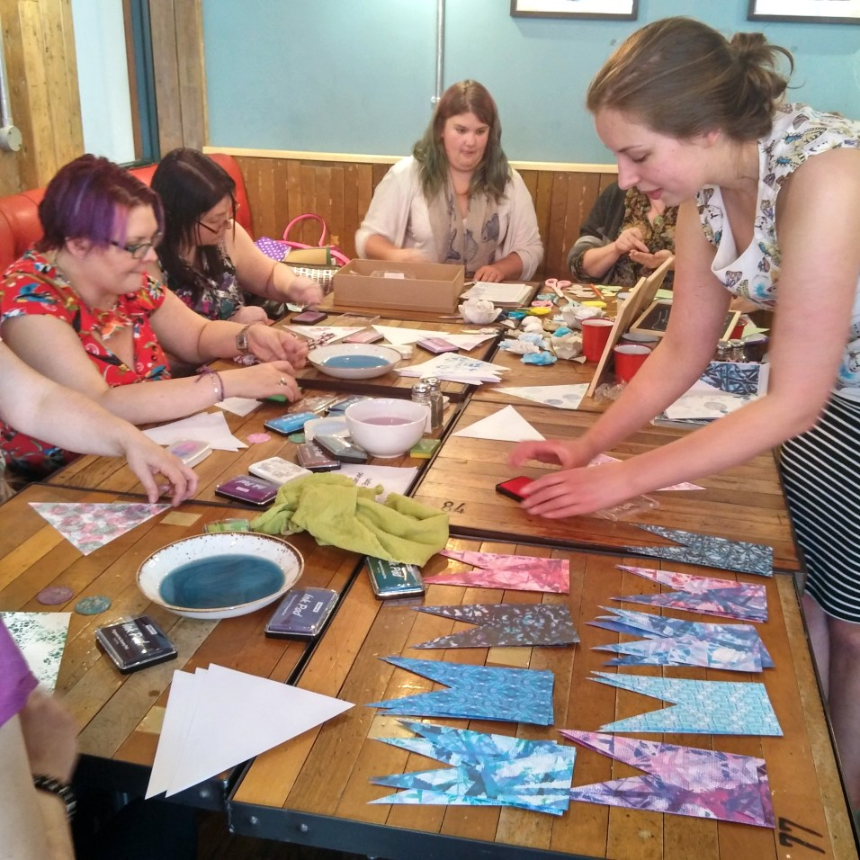 Stamping Bunting with Fiona from FeFiFo and Paper Flowers with Lottie from Simply Charlotte B