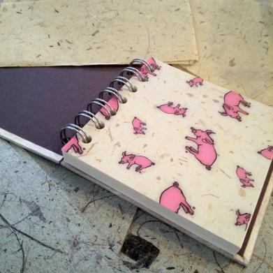 Pink Pig Sketchbook and Paper