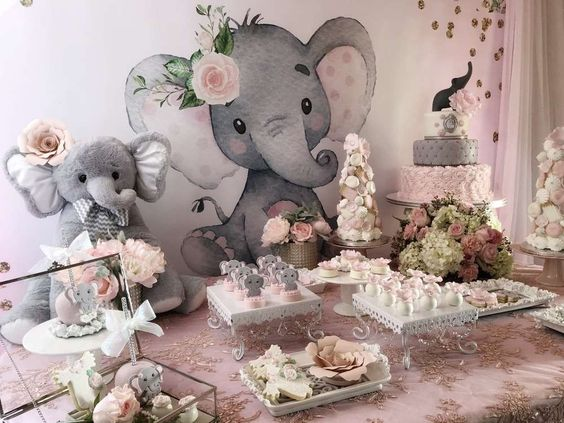 Baby Shower Nina Elefante Decoracion.Decoracion De Elefantes Para Baby Shower Nina Free Printable