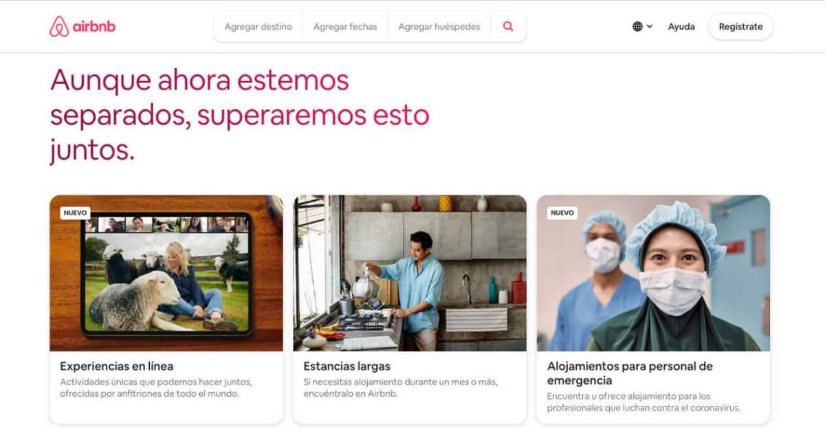 Airbnb en un comercio electrónico