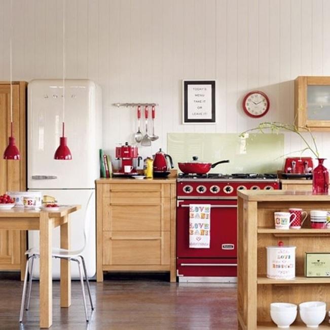 cocinas decoradas Lindas Cocinas Decoradas Con Color Rojo