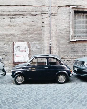 Vintage Fiat 500 black Rome Roma