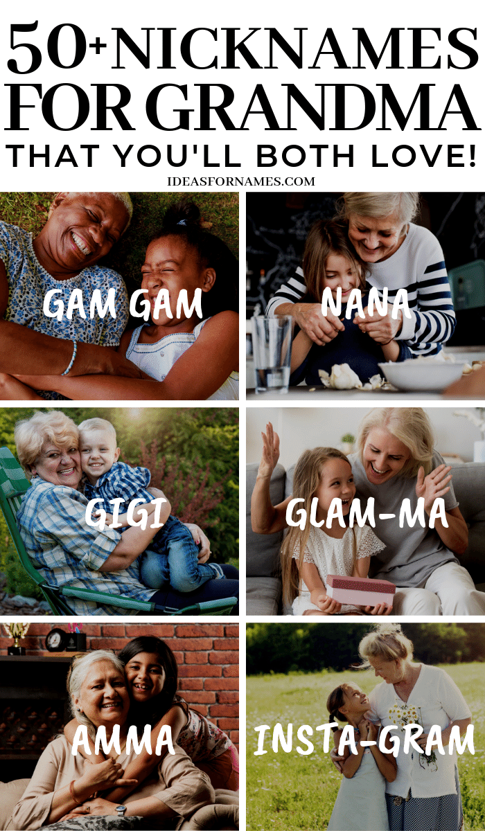 50+ Alternative Nicknames That Are Perfect For Grandma, Different names to call grandmother #nameideas #nicknames #nickname #ideasfornames #grandma #ilovemygrandma