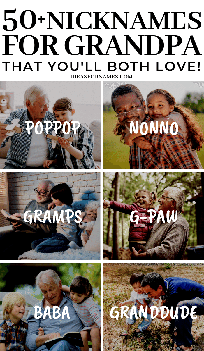 Alternative Nicknames That Are Perfect For Grandpa #grandpa #grandfather , Other names for your grandfather #ilovemygrandpa #grandparents