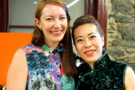 Collaboration: Phoebe (right) with Limedrop founder Clea