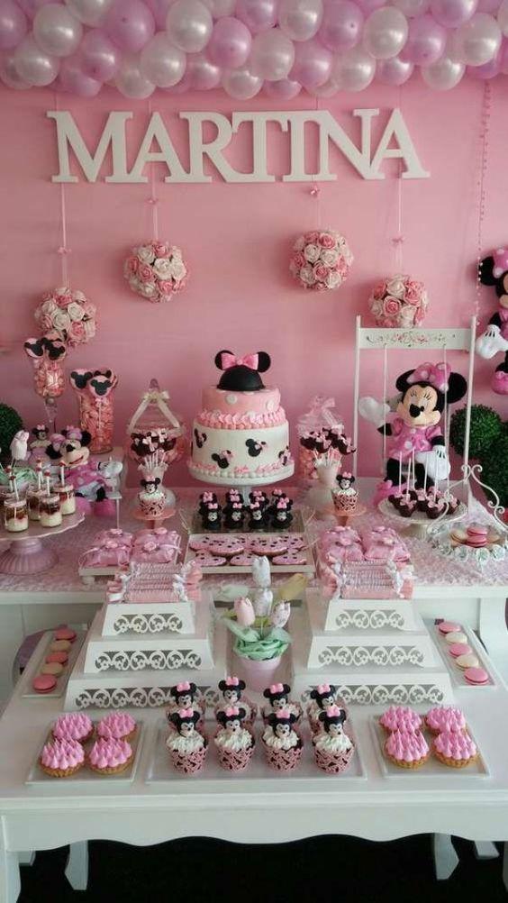 Rosa Decoracion De Fiesta De Minnie Mouse Novocom Top