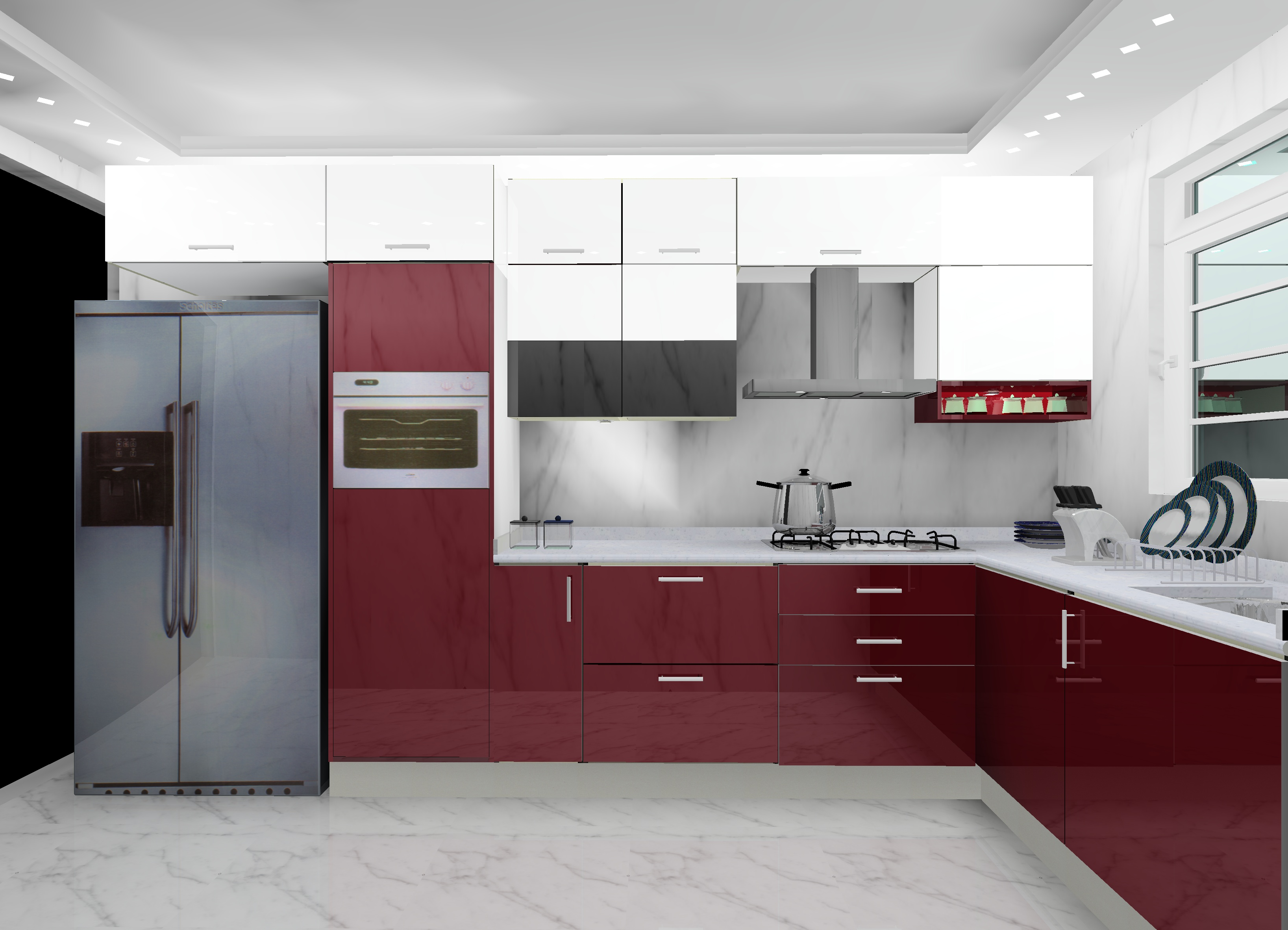 L Shaped Modular Kitchen Designs In Delhi Ncr