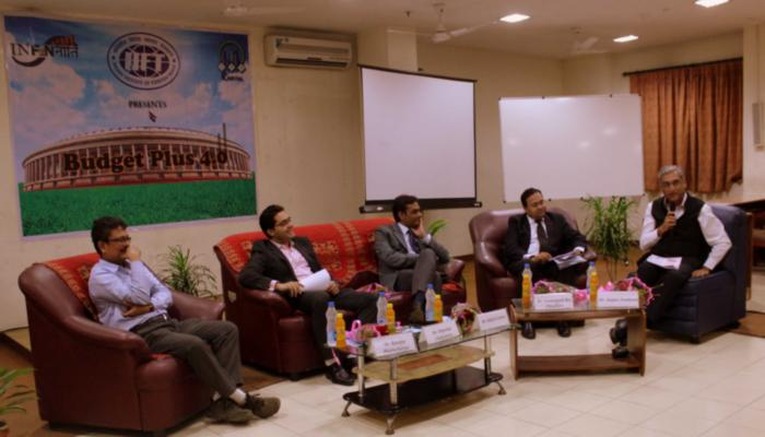 From Left to Right: Dr.Ranajoy Bhattacharyya, Mr. Dipankar Chakraborty, Mr. Rakesh Somani, Dignitary from ICICI, Mr. Sanjeev Nandwani.