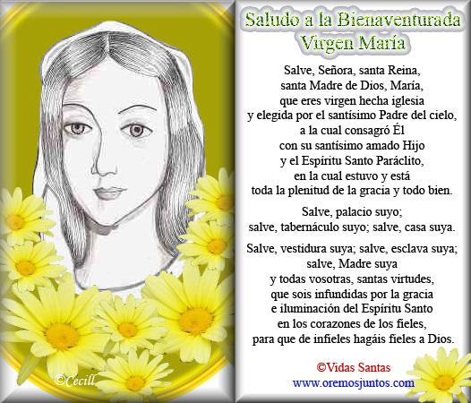 La En Del Su Virgen Dia Oraciones Carmen