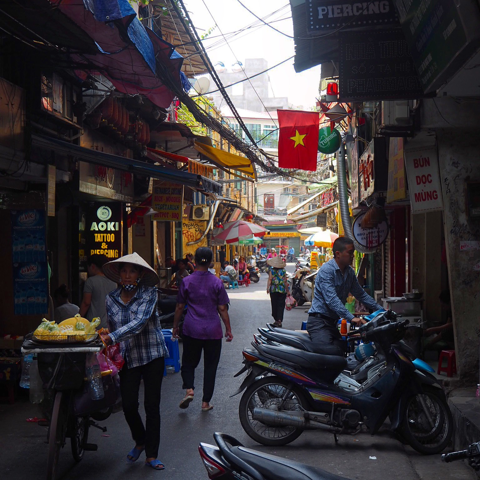 A street in Hanoi's Old Quarter