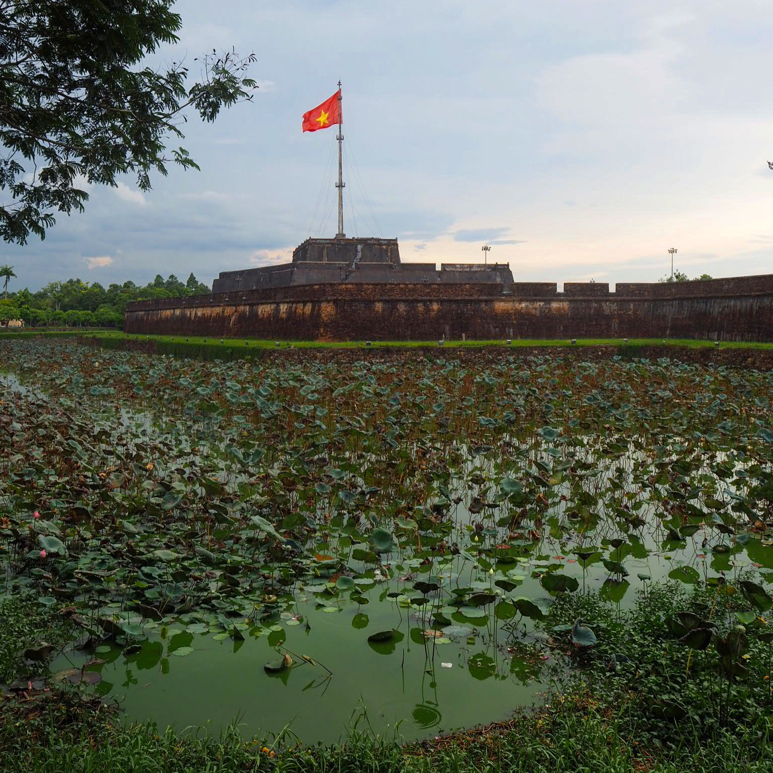 The outer walls and moat of Hué's Citadel