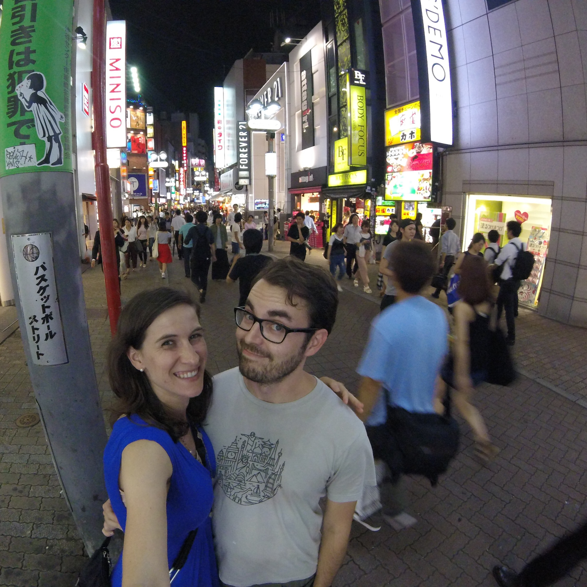 On the bust streets of Shibuya in Tokyo