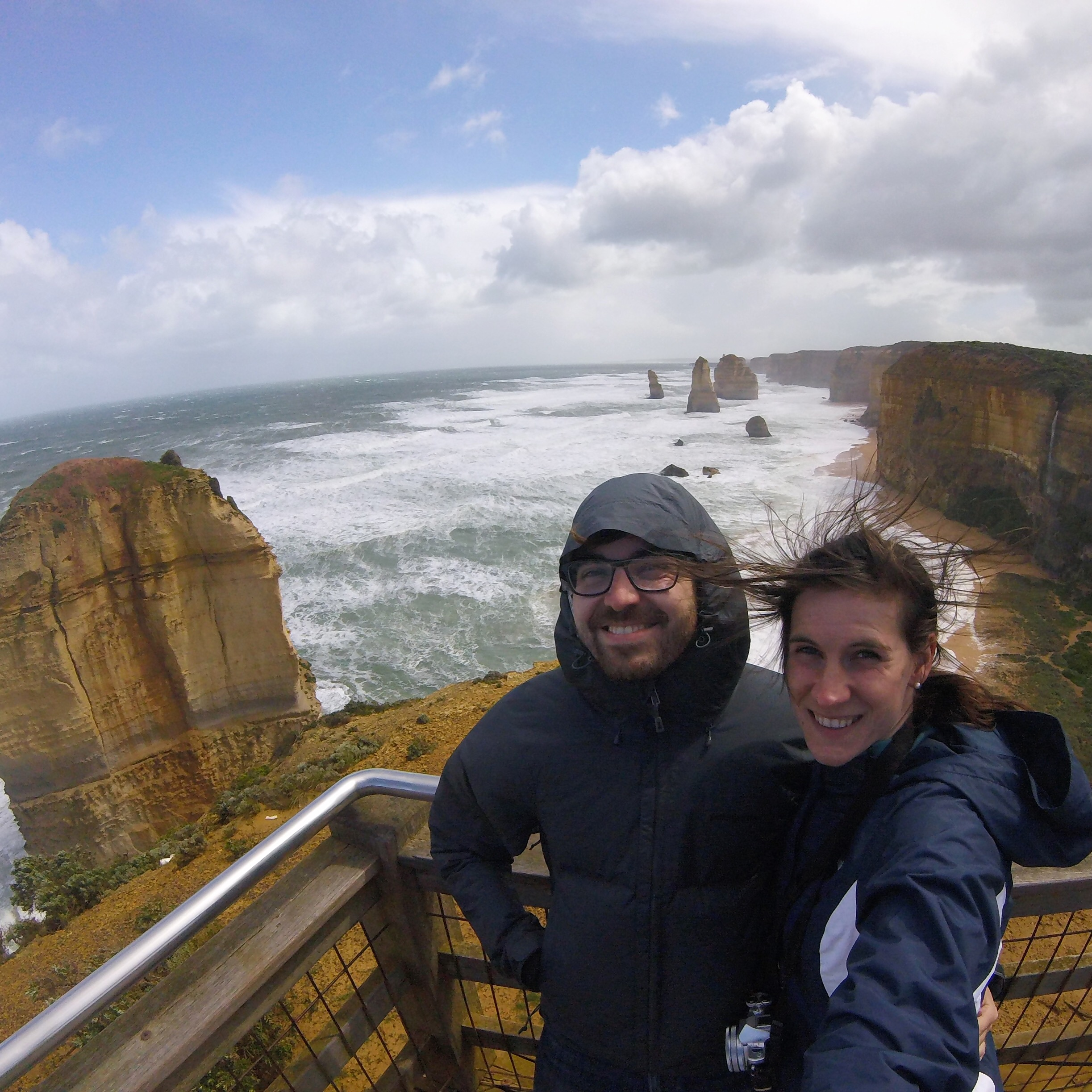 Windy day at the 12 Apostles