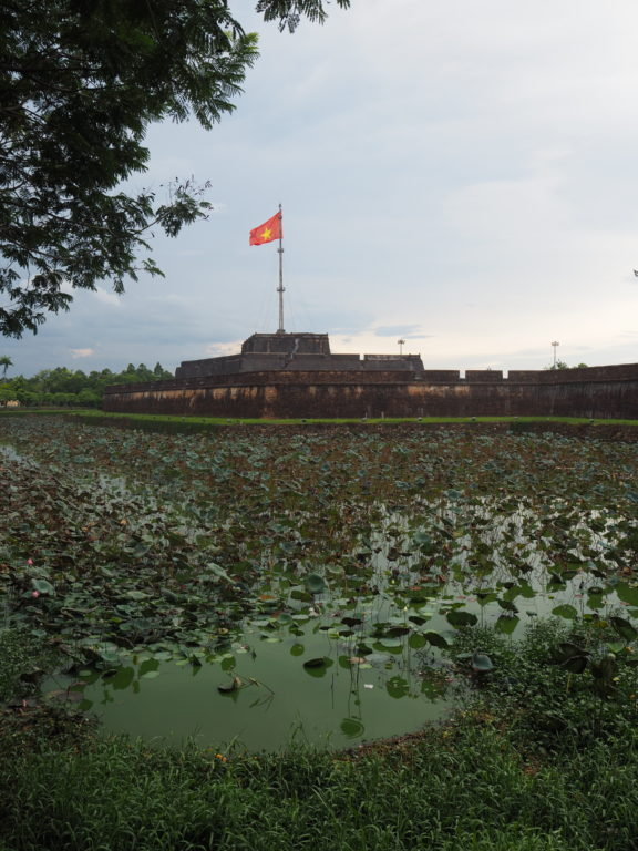 The outside of the Citadel in Hué