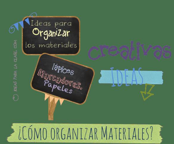 organizar materiales