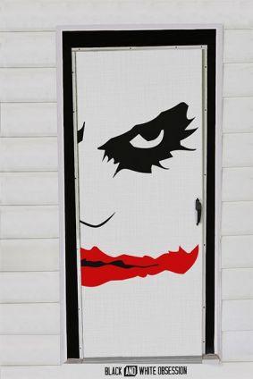 Halloween decoración puertas en blanco