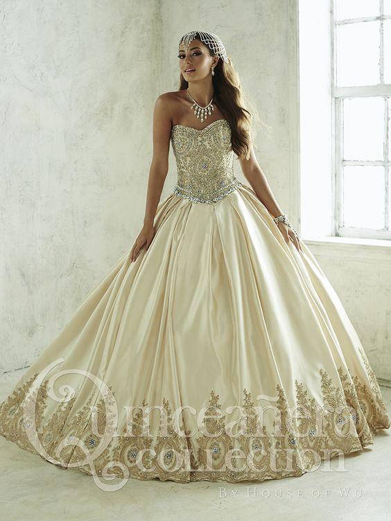 Color Con Vestidos Rosa Blanco De Xv