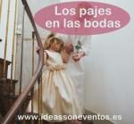 Los pajes en las bodas
