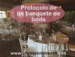 Protocolo de un banquete de boda