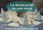 La decoración de una mesa