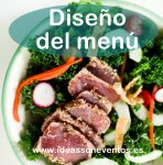 Diseño del menú de un evento