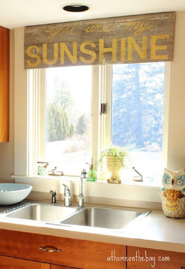 Creative Kitchen Window Treatment Ideas 2017