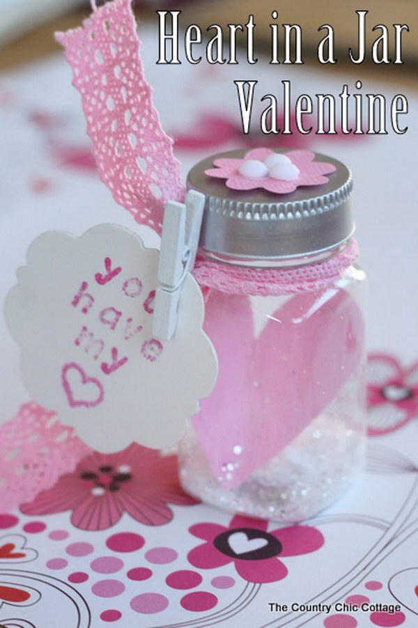 70 DIY Valentines Day Gifts Amp Decorations Made From Mason Jars 2017