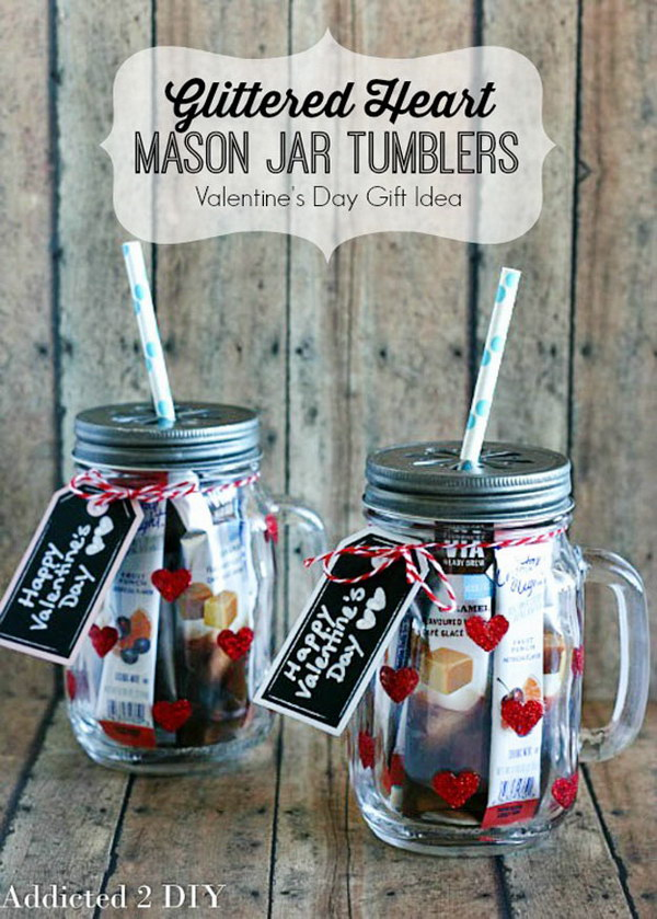 70 DIY Valentines Day Gifts Amp Decorations Made From Mason