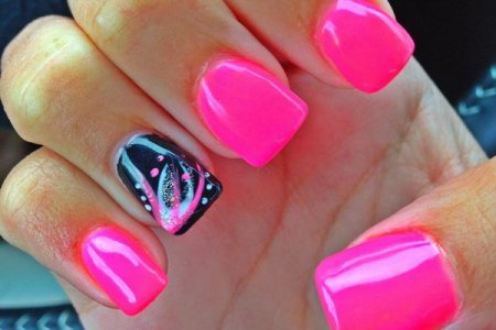 Pink Black And White Nail Designs 4k Pictures 4k Pictures Full