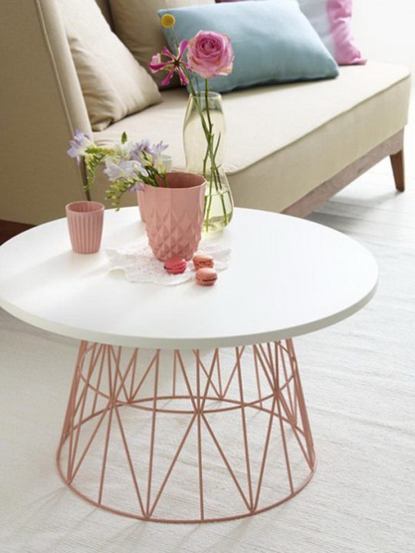 Tall Skinny Side Table