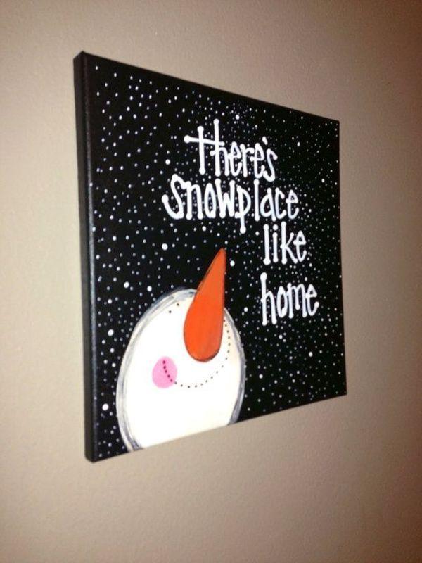 Snowmen Acrylic Painting Beginners