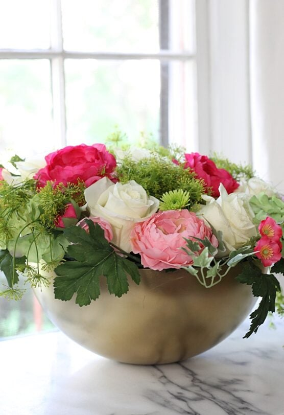 Use flower arrangements at your party