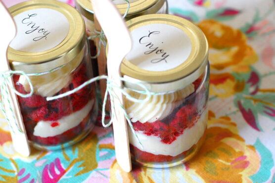 Cupcake in jars