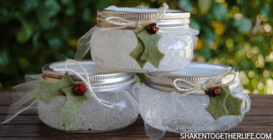 Winter air fresheners in mason jars