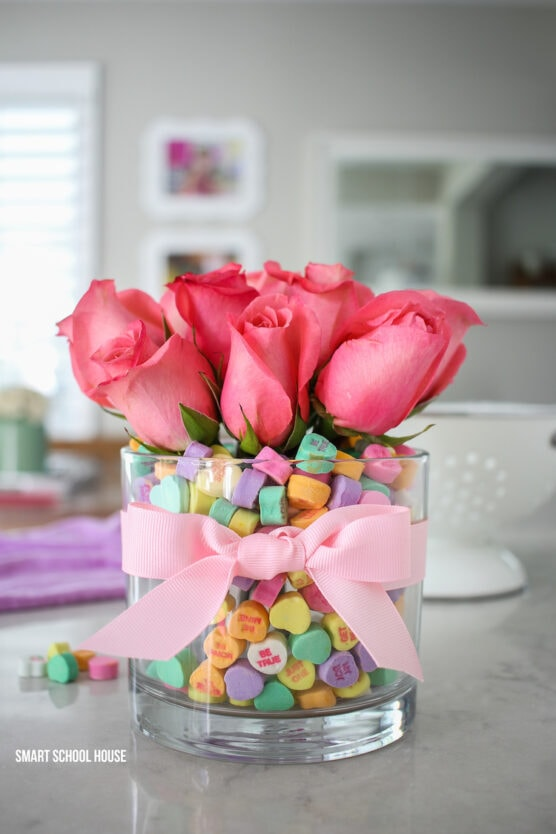 Candy heart vase