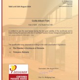 Albert-Toth Csilla Certificate