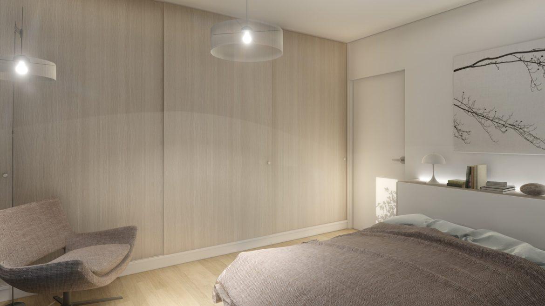 deativa Casa pasiva Covasna minimalist cosy interior bedroom dormitor