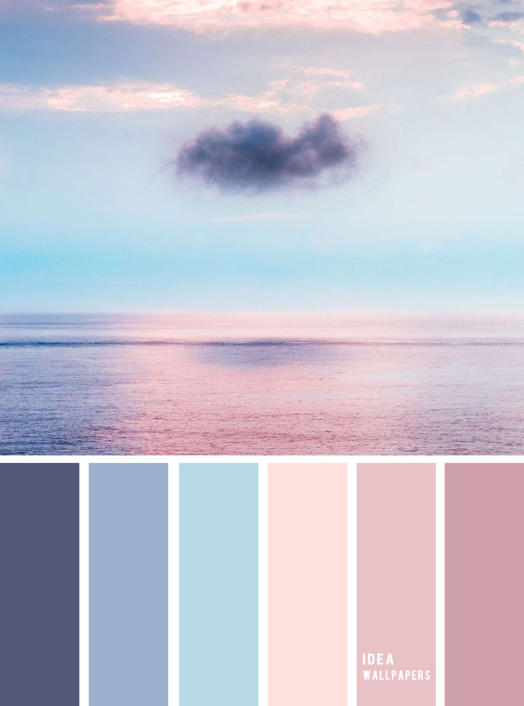 Blue and Mauve color palette inspired by sky color ,evening sky color palette #color #colorpalette