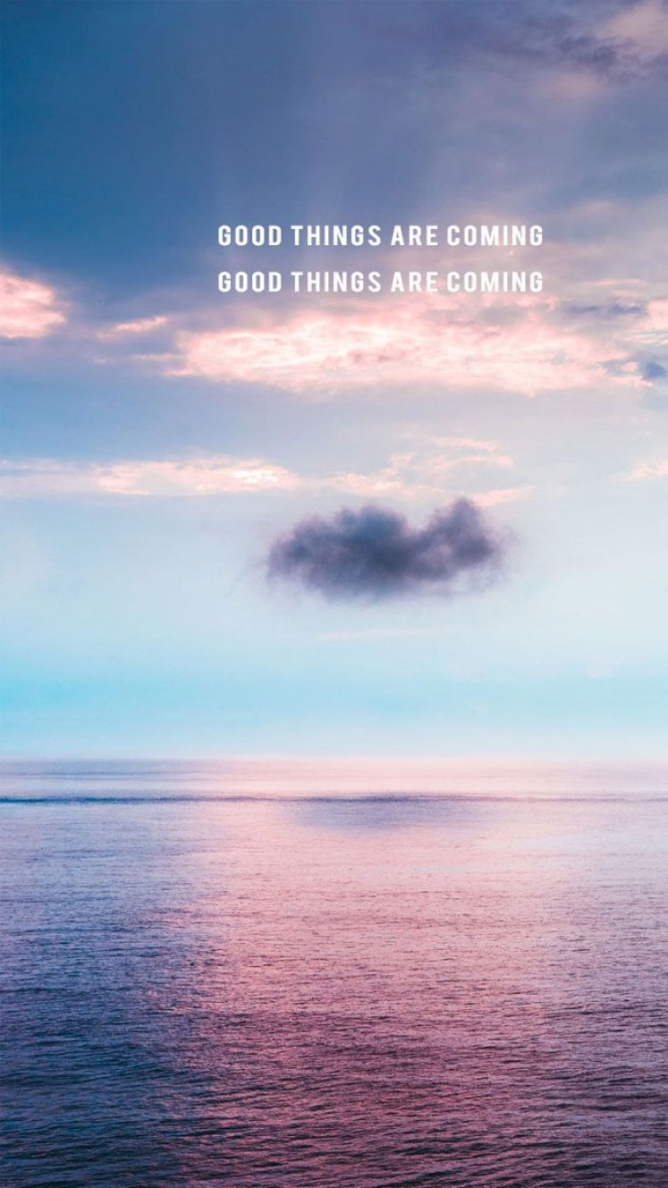 Good Things Are Coming Oceanic Iphone Wallpaper