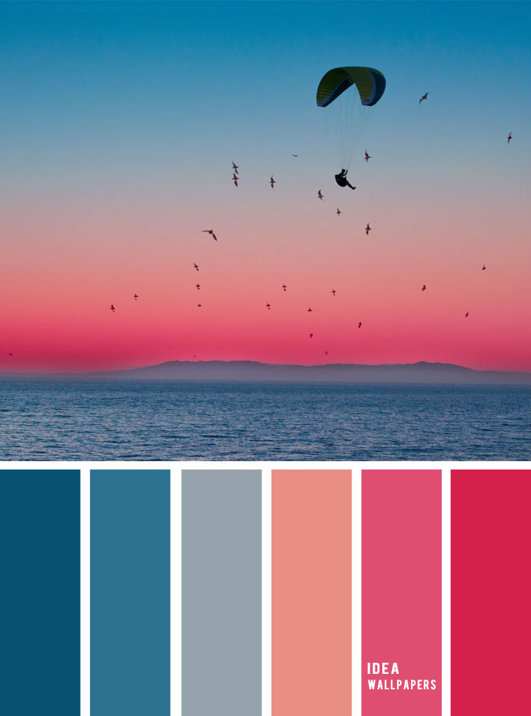 pink and blue sky inspired color palette , color inspiraiton, color schemes #colors #colorpalette