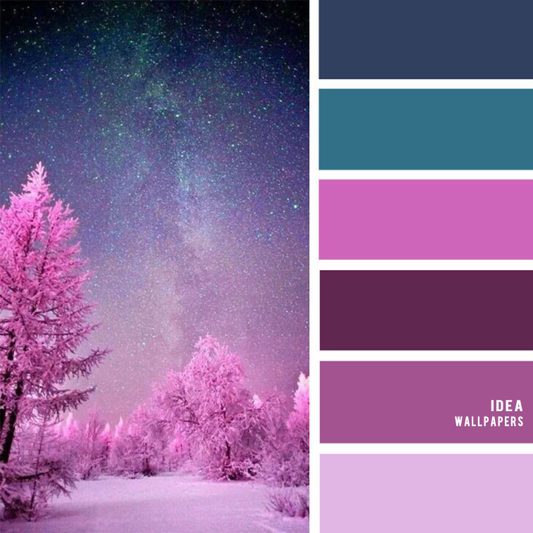 19 The Perfect Pink Color Combinations { Super Pink + Purple + Teal & Dark Blue } pink color palette, colour palette #color #colorpalette