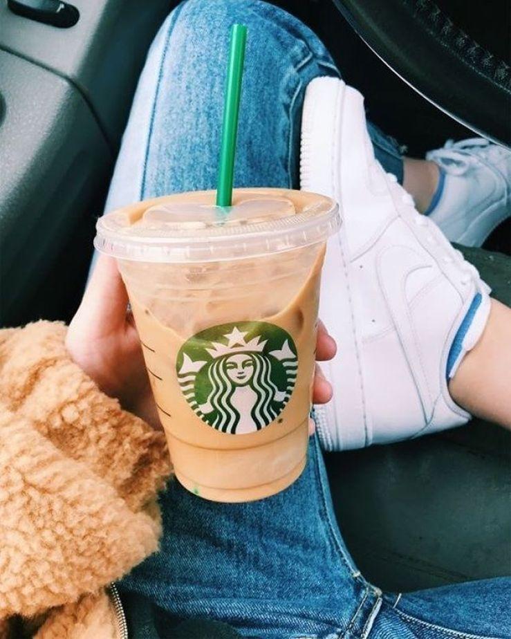 Iced coffee Starbucks #starbucks #coffee